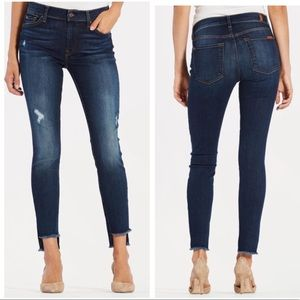 7 for all mankind fray step hem distressed skinny
